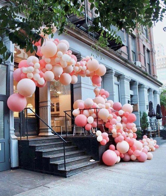 Arco Baloes Desconstruido rosa