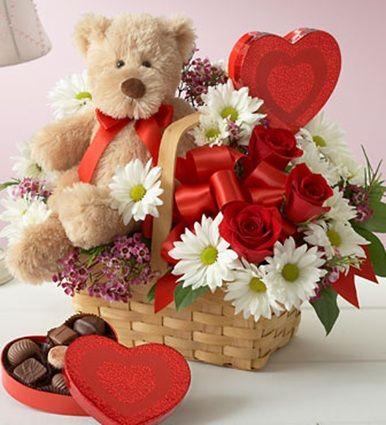 Cesta dia namorados flores