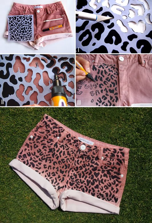 DIY Transformação Shorts animal print