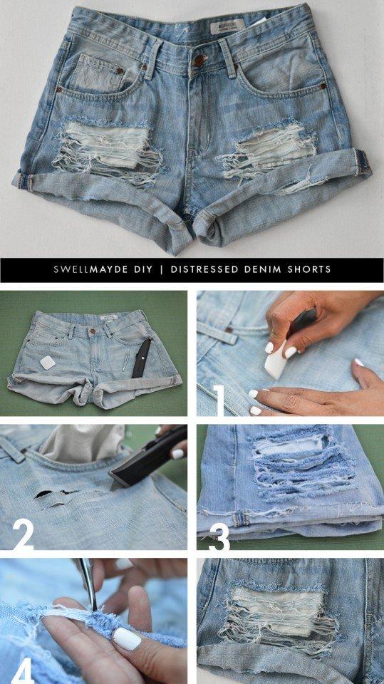 DIY Transformação Shorts desgaste