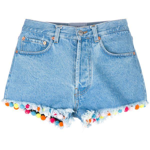 DIY Transformação Shorts pompons 1