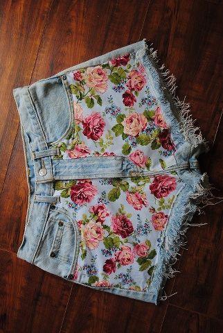 DIY Transformação Shorts tecido 1