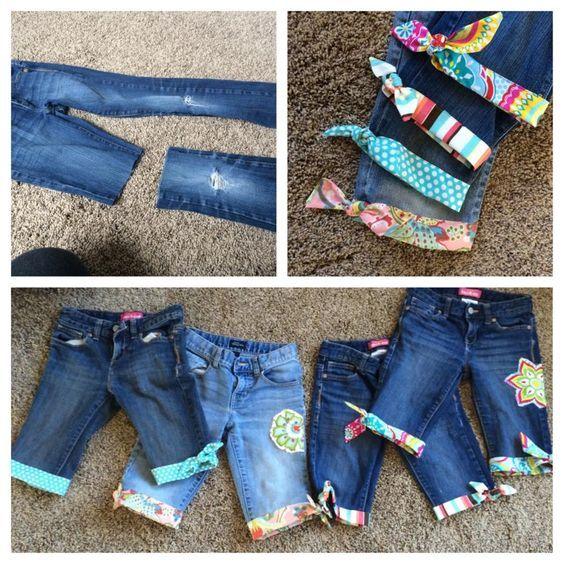DIY Transformação Shorts tecido