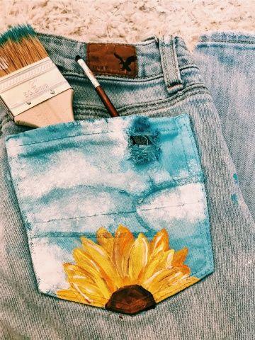 DIY Transformação Shorts tinta tecido