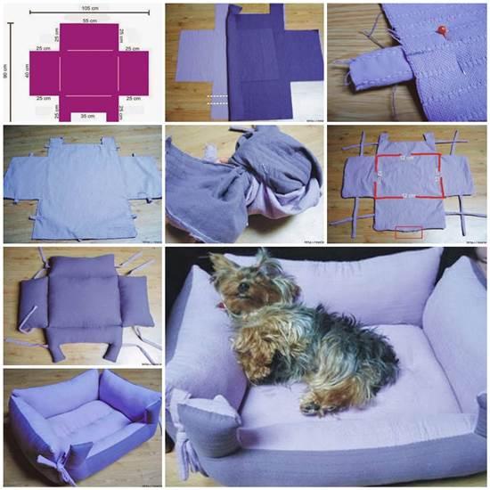 DIY cama para animais