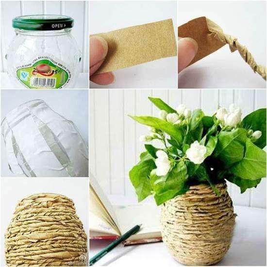 DIY vasos reciclagem 1