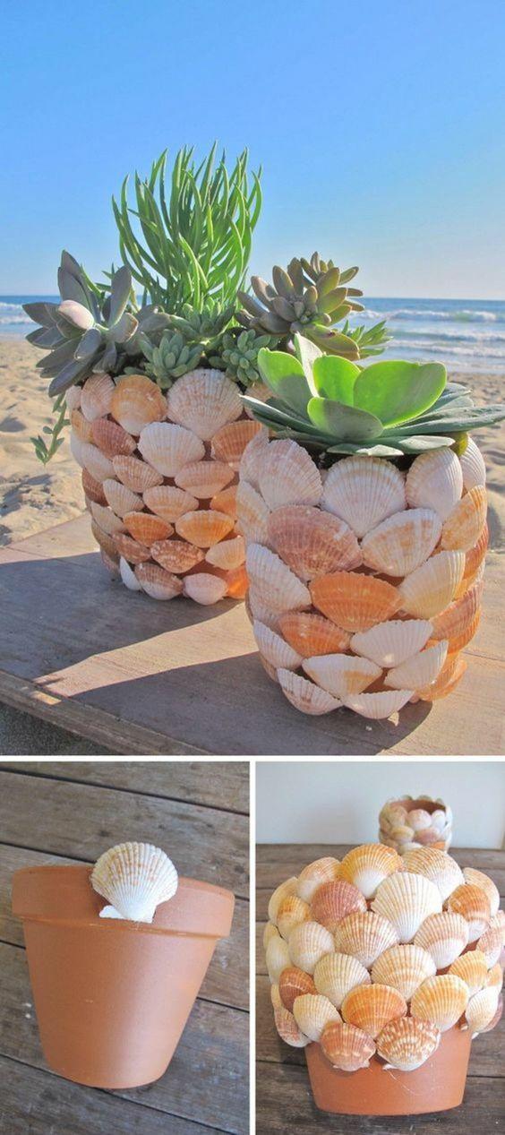 DIY vasos reciclagem