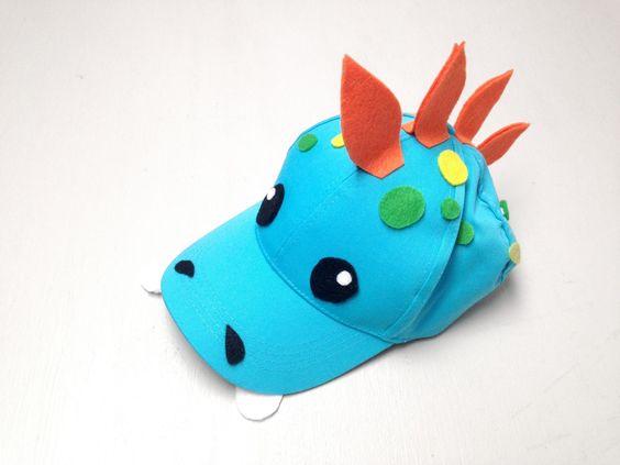 Diy bone criança carnaval dinosssauro 1