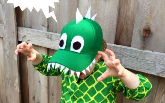 Diy bone criança carnaval dinosssauro