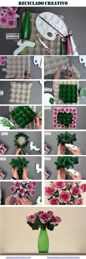 Diy decoracao flores caixas ovos 5