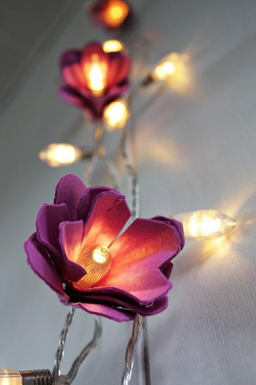 Diy decoracao flores caixas ovos