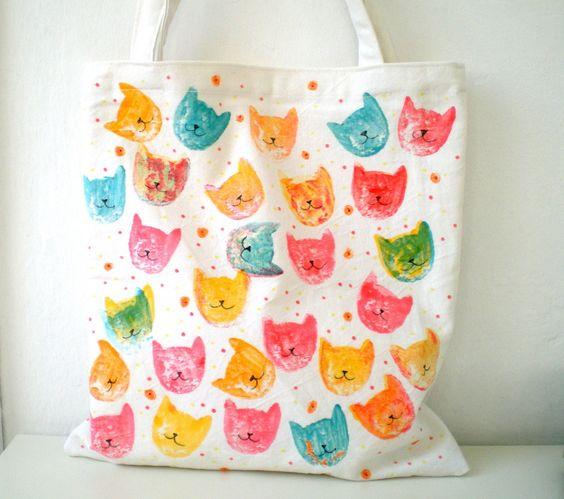 Ecobags criativas gatos