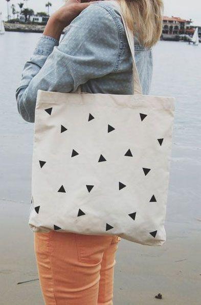 Ecobags criativas geometricas