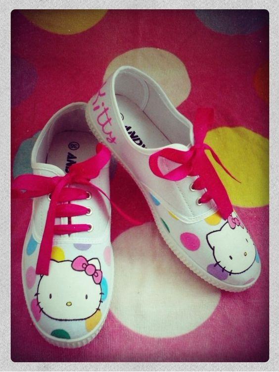 Ideias criativas pintar sapatos criança 10