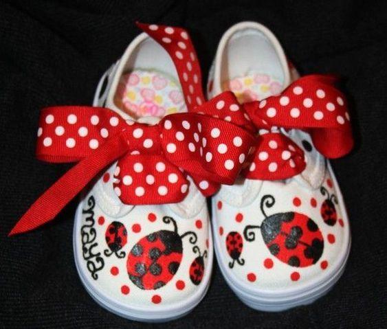Ideias criativas pintar sapatos criança 3