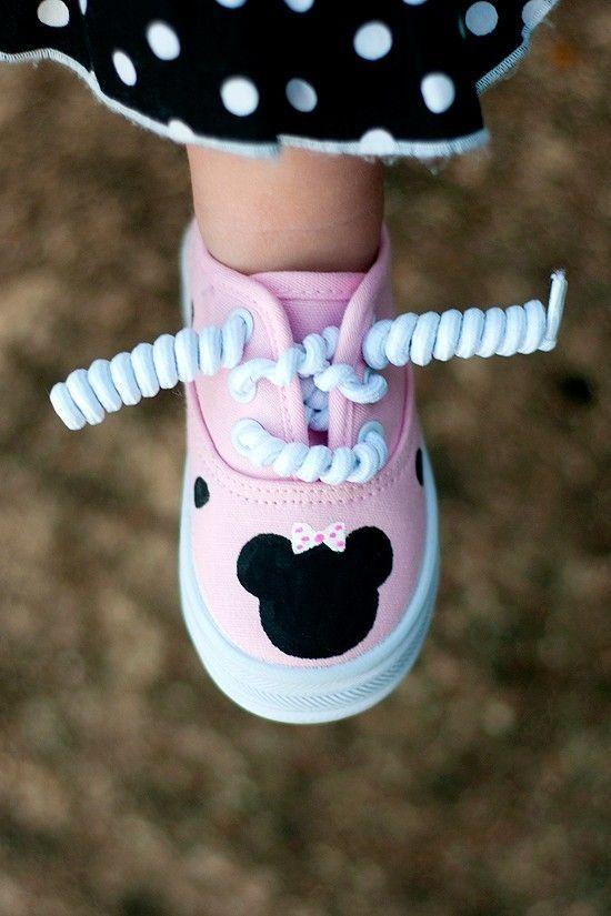 Ideias criativas pintar sapatos criança 4