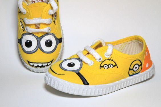Ideias criativas pintar sapatos criança 6