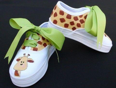 Ideias criativas pintar sapatos criança 8