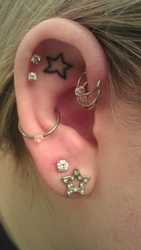 Ideias tatuagem orelha 11