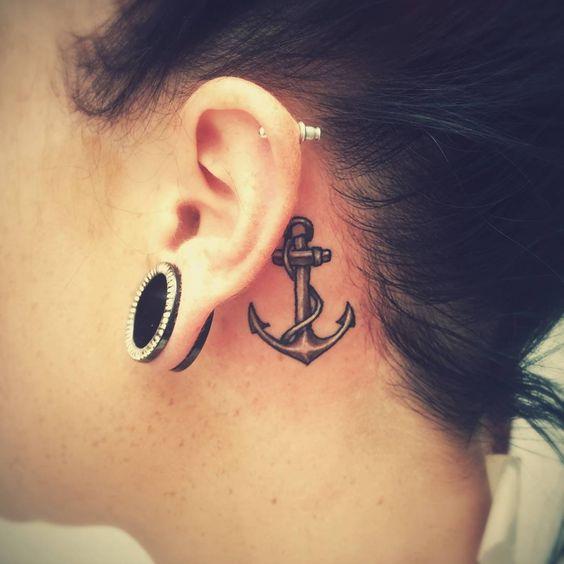 Ideias tatuagem orelha 14