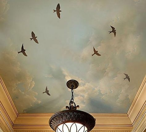 Ideias tetos decorados stencil