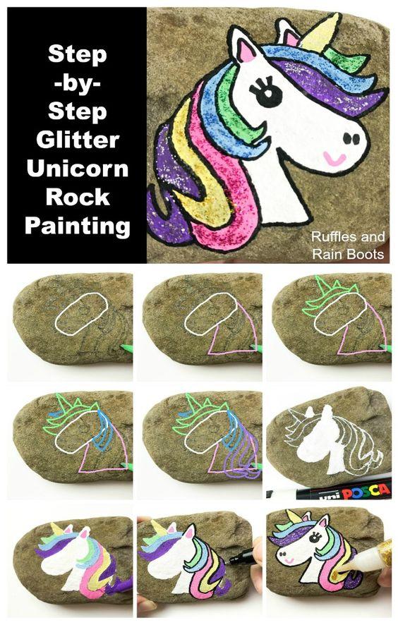 Pintar pedras passo passo 1