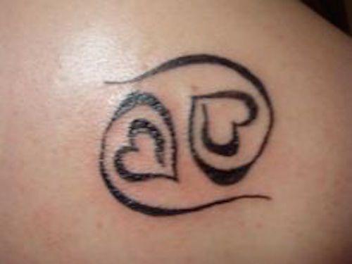 Tatuagens de Signos cancer contorno