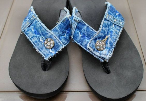 Transformar jeans andálias 5