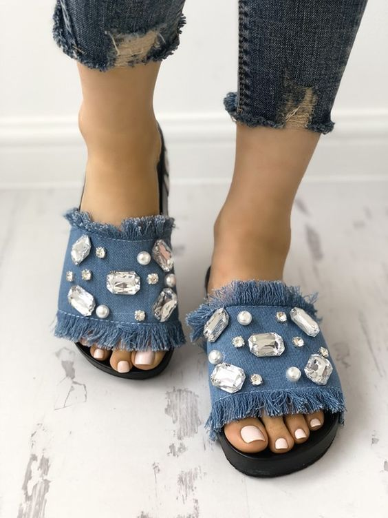 Transformar jeans andálias 9