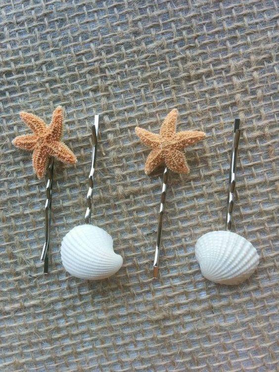 acessorios cabelo conchas mar crianca