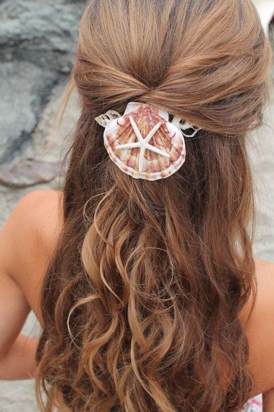 acessorios cabelo conchas mar noiva