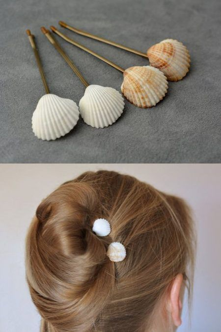 acessorios cabelo conchas mar