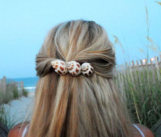 acessorios cabelo conchas