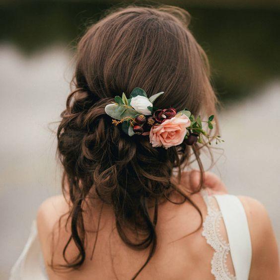 acessorios cabelo noiva flor apanhado