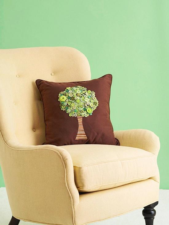 almofada decorativa com botoes