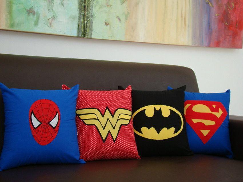 almofada super herois diy ideias 8