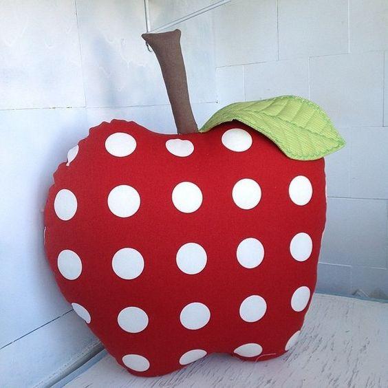 almofadas divertidas frutas maca