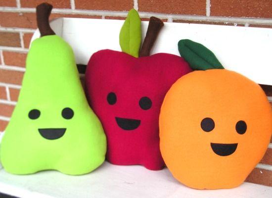 almofadas divertidas frutas