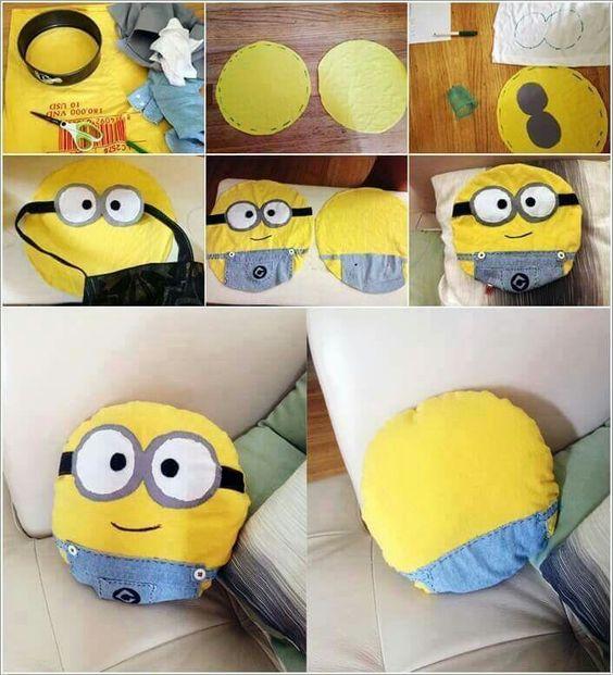 almofadas divertidas infantil minions