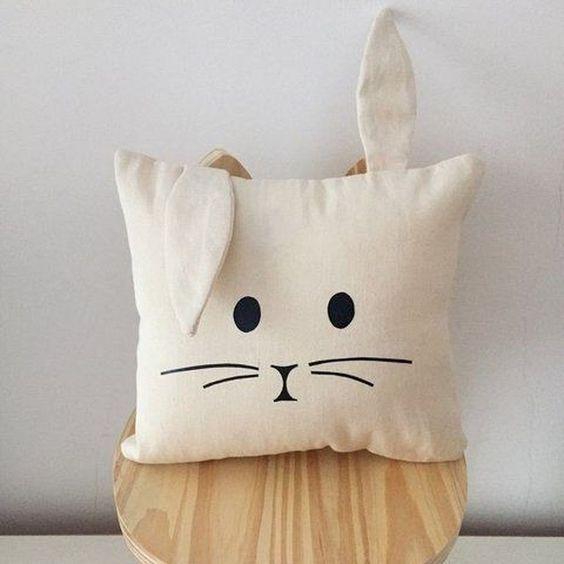 almofadas divertidas tecido coelho