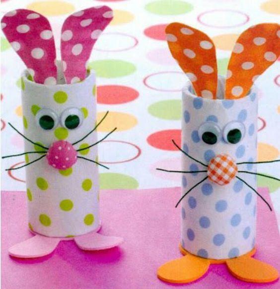 animais rolos de papel higienico coelho pascoa