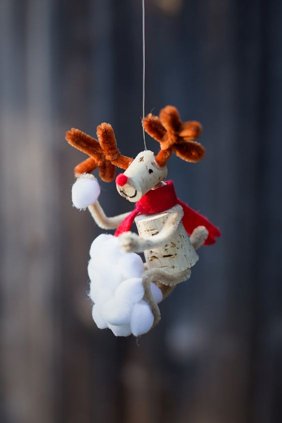 artesanato diy dcoracao natal rolhas cortiça 1