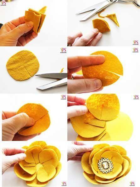 artesanato feltro tutorial