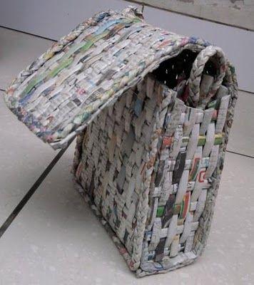 artesanato jornal acessorio moda mala