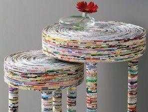 artesanato jornal movel mesa