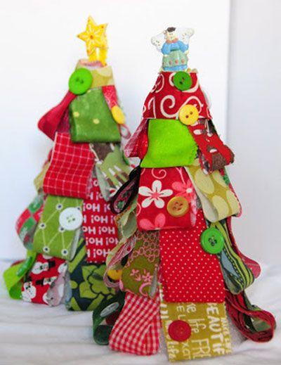 artesanato natal retalho arvore 1