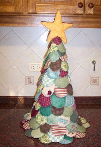 artesanato natal retalho arvore 2