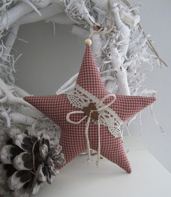artesanato natal retalho enfeite 1