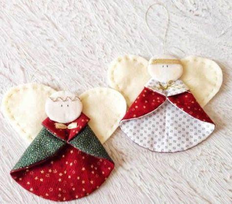 artesanato natal retalho enfeite 3