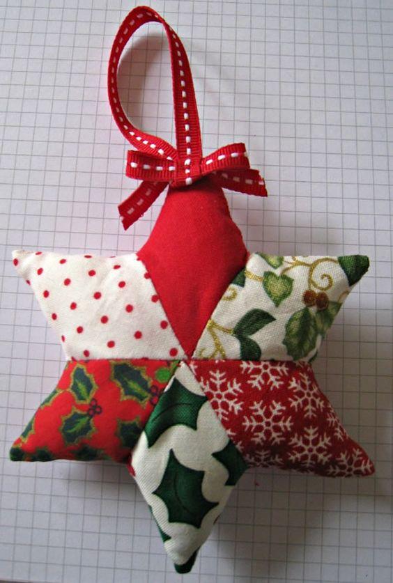 artesanato natal retalho enfeite 4